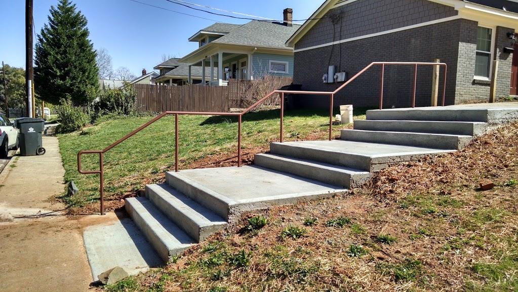 ADA one line stair rails