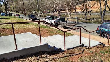 Steel ADA top of stair rail