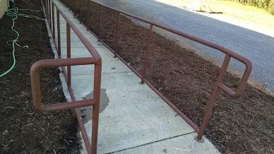 two line steel ADA ramp rails.