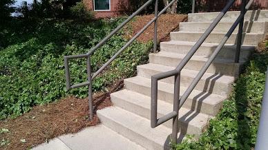 2 line steel exterior box ada railings charlotte nc