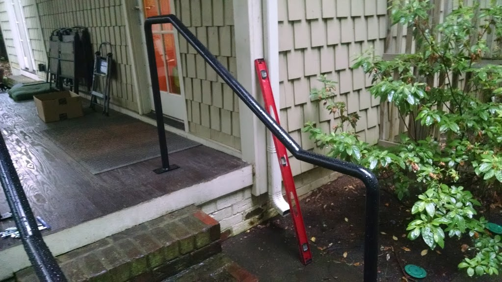 Steel ADA railings for a house in Charlotte NC.