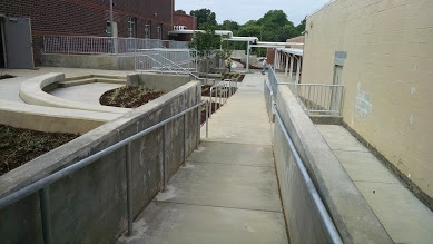 steel rails for stairs and ramps
