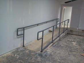 Steel ADA railings for a church in North Carolina.