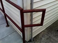 Custom Steel ADA bottom of ramp rail