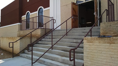 ADA round stair rails