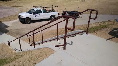 2 line steel handrailing
