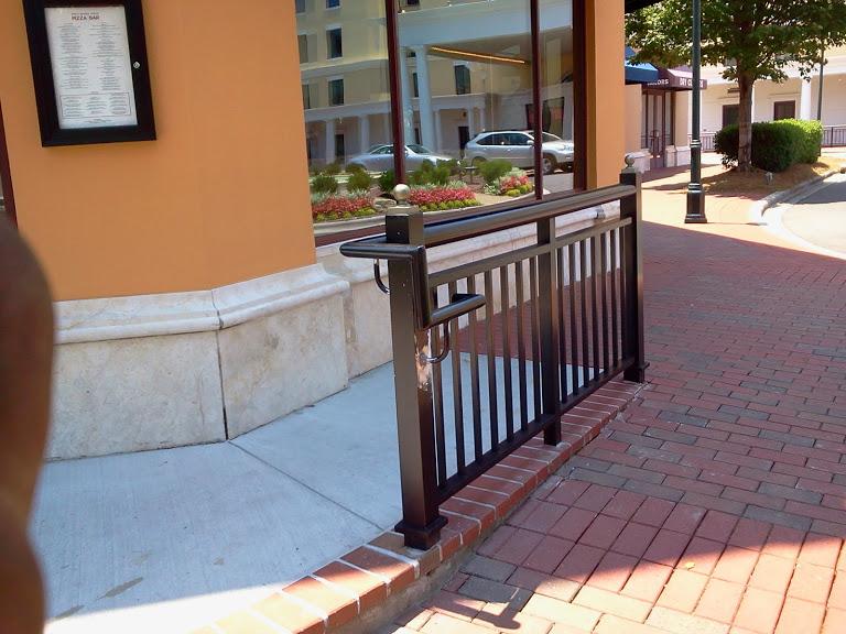 custom griprail for small street side handrail for looks.
