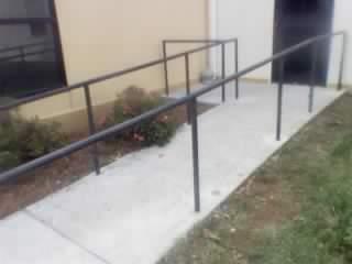ADA steel picketed stair rails