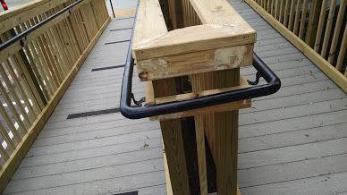 90 degree elbow ada wall railing